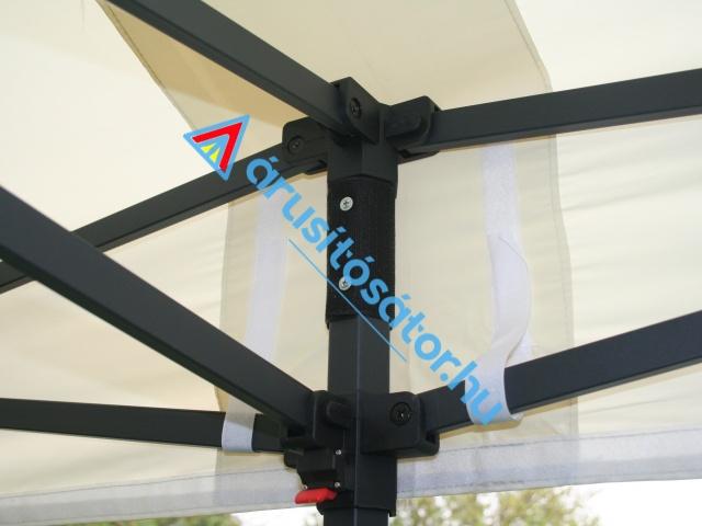 3x6 m erősített hatszögprofil lábbal, OLDALFAL SZETTEL
