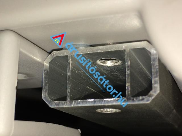 3x4,5-es hatszöglábas 40-es alumínium váz  + oldalfal szett
