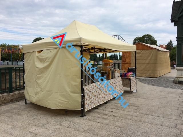 3x 4,5 m pavilon sátor erősített vázzal DA