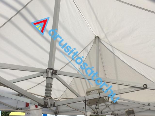 3x6 m hatszöglábas 50-es aluváz + tetőponyva + oldalfal szett